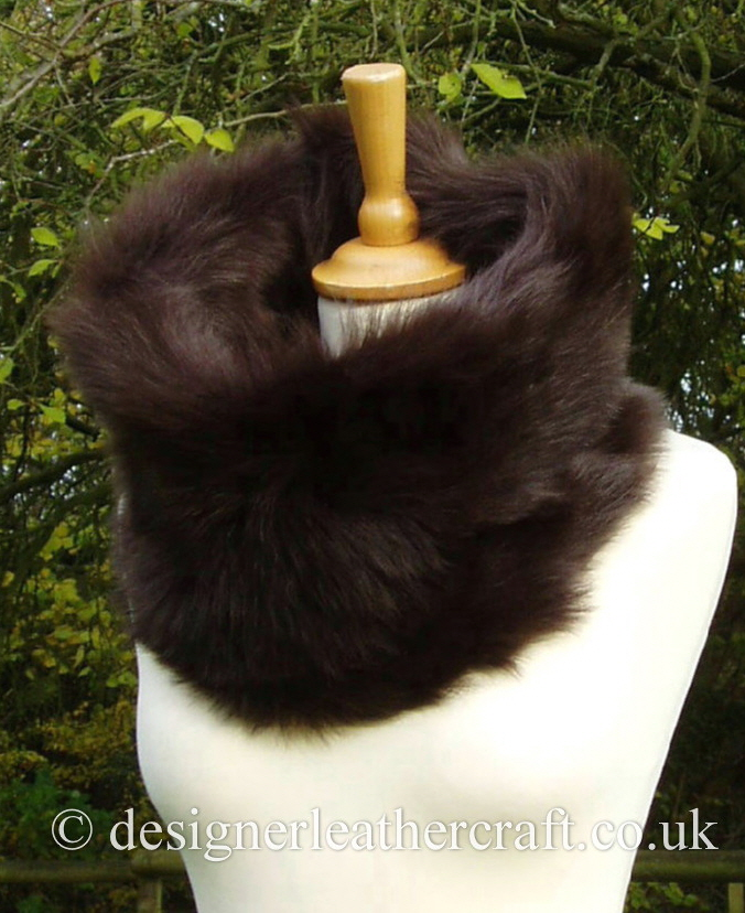 Chocolate Brown Toscana Shearling Snood