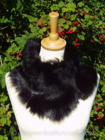 More Toscana Shearling Tippet Collars in Black