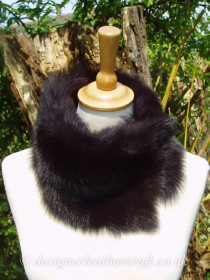 More Toscana Shearling Tippet Collars in Browns and Beiges