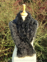 50 inch Steel Tipped Tigrado Shearling Scarf