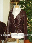 Helen McAlinden Brown Designer Leather Jacket