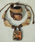 Leather Necklaces and Cuff Bracelets with Stones1