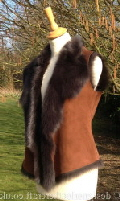 Toscana Shearling Gilet in Marron Brown