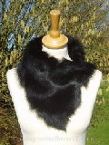Black Toscana Shearling Tippet Collar