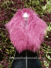 32 inch Dusty Pink Mongolian Collar