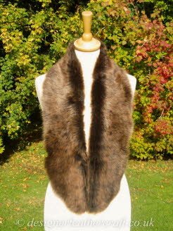 48 inch Amandari Toscana Shearling Scarf Worn as a Collar
