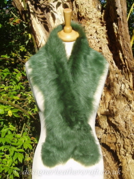 48 inch Emerald Green Toscana Shearling Scarf S11