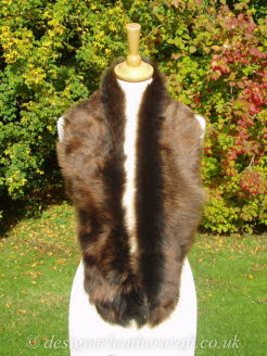 50 inch Amandari Toscana Shearling Scarf Worn as a Collar