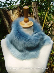 Baby Blue Toscana Shearling Tippet T22 Fastens with Magnets
