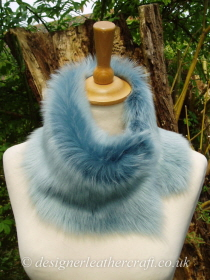 Baby Blue Toscana Shearling Tippet T23 Fastens with Magnets