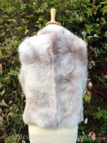 Back View of the Beige Ombre Shearling Gilet Reversed