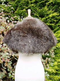 Back of the Leopard Print Toscana Shearling Wrap