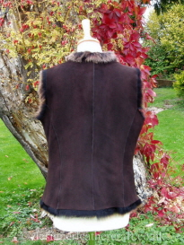 Back of the Reversible Amandari Shearling Gilet