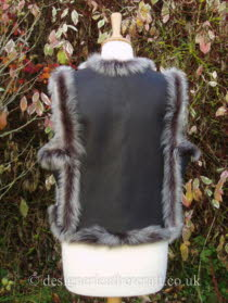 Back of the Russian Style Toscana Gilet in Brown Brisa