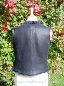 Back of the Wolf Toscana Shearling Gilet BL18