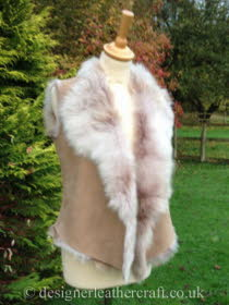 Beige Ombre Toscana Shearling Gilet 8-10