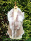 Beige Ombre Toscana Shearling Gilet 8-10 Back Length 20 inches