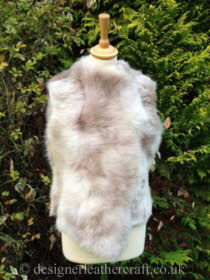 Beige Ombre Toscana Shearling Gilet Reversed