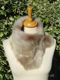 Beige Ombre Toscana Shearling Tippet T30 Fastens with Magnets