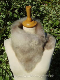 Beige Ombre Toscana Shearling Tippet T31 Fastens with Magnets