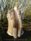 Beige Suede Finish Shearling Gilet Bl 23 inches