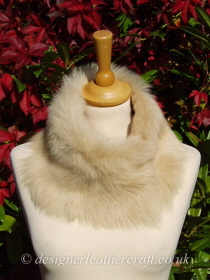 Biscuit Beige Toscana Shearling Tippet T21 Fastens with Magnets