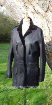 Black Jacket Fastens with Buttons