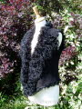 Black Suede Finish Curly Toscana Gilet Size 8-10 Bl 18