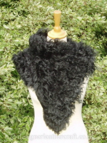 Black Tipped Tigrado Shearling Sheepskin  Wrap Pic 1