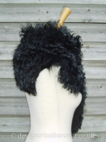 Black Tipped Tigrado Shearling Sheepskin  Wrap Reversed Pic 4