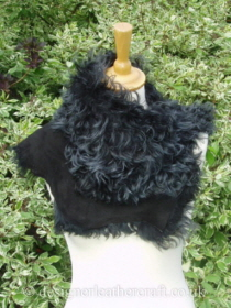 Black Tipped Tigrado Shearling Sheepskin  Wrap Reversed Pic 5
