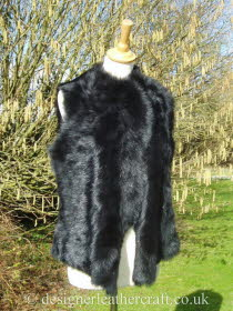 Black Toscana Gilet Reversed to the Wool