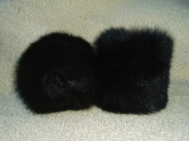 Black Toscana Shearling Cuffs
