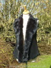 Black Toscana Shearling Gilet Back Length 23 inches