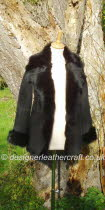 Black Toscana Shearling Jacket