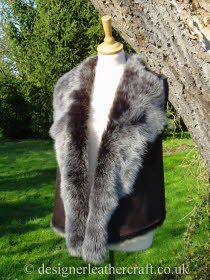 Brown Brisa Suede Finish Toscana Shearling Gilet