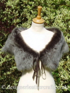Dark Brown Brisa Toscana Shearling Wrap A 42 inches