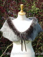 Dark Brown Brisa Toscana Shearling Wrap B 42 inches