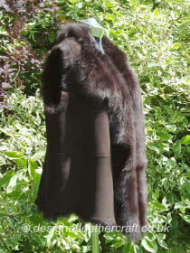 Dark Brown Toscana Shearling Gilet Size18 Bl25 inches