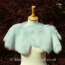 Deep Duck Egg Blue Toscana Shearling Shrug Sg3