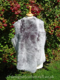 Front of the Lavender Grey Toscana Shearling Gilet Reversed BL23
