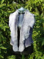 Grey Brisa Cropped Toscana Shearling Gilet Size 8-10 Bl18