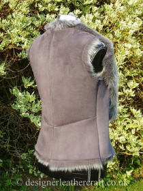 Grey Brisa Shearling Gilet with Four Piece Back