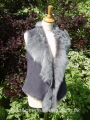 Grey Brisa Toscana Gilet size 8-10 Bl 21 inches