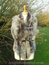 Grey Brisa Toscana Shearling Gilet Reversed