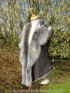 Grey Brisa Toscana Shearling Gilet with a back length of 21 inches