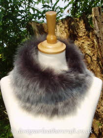 Grey Brisa Toscana Shearling Tippet T1 Fastens with Magnets