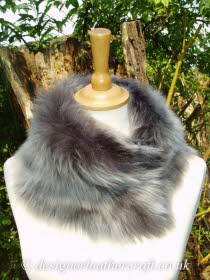 Grey Brisa Toscana Shearling Tippet T2 Fastens with Magnets