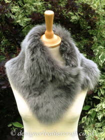 Grey Brisa Toscana Shearling Tippet T9 Fastens with Magnets