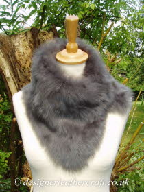 Grey Nappalan Toscana Shearling Tippet T7 Fastens with Magnets